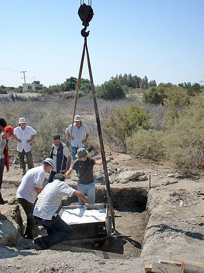 DoA and UCL teams recover prehistoric human remains in Azraq (Photo courtesy of the Epipalaeolithic Foragers in Azraq Project)