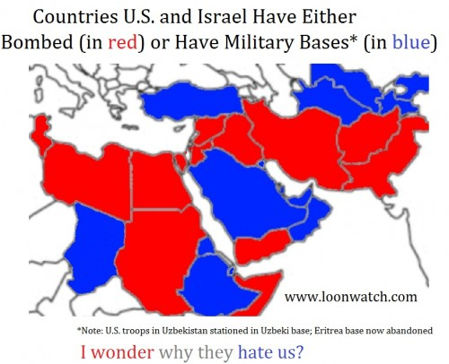 Map of Muslim Countries that the U.S. and Israel Have Bombed – The ...