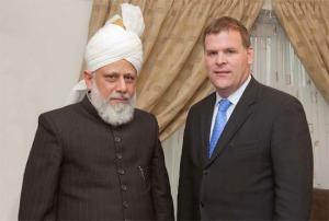 John Baird and Mirza Masroor Ahmad