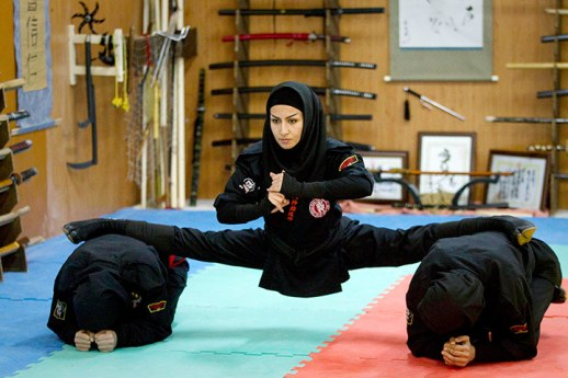 Many women in Iran have found a novel way to express themselves: training in the arts of the ninja warrior