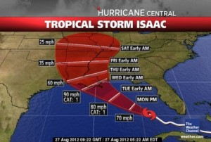 Tropical Storm Isaac: A picture worth thousand words