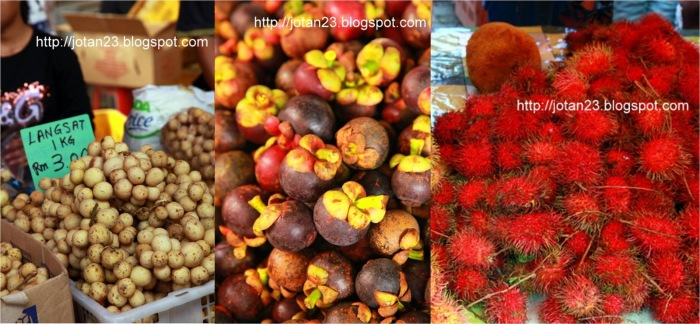 lanzones, mangosteen and rambutan