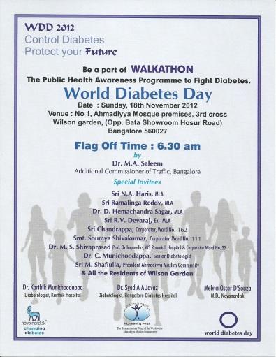 Walkathon on World Diabetes Day