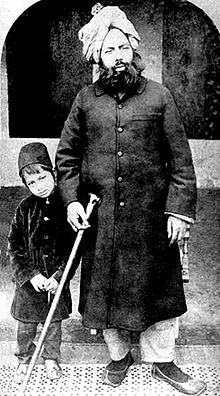 His Holiness Mirza Ghulam Ahmad (as) With Son
