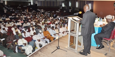 Rev. Adeoye addressing a cross-section of the participants