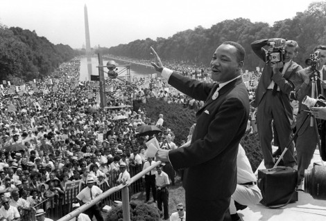Martin Luther King at the time of I have a dream speech