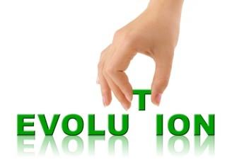 Evolution green alphabets