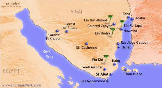 sinai-peninsula-map – The Muslim Times