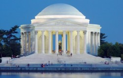 Jefferson Memorial in Washington DC.  He was the first US President accused of being a Muslim