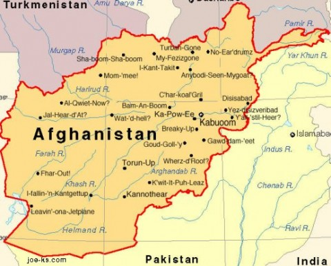 Afghanistan Map – The Muslim Times