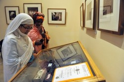 Students look at a display at the Judaism Museum in Casablanca on Jan. 28, 2011. (Abdelhak Senna/AFP/Getty Images)