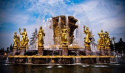 """Friendship of Nations"" fountain in All-Russia Exhibition Center"