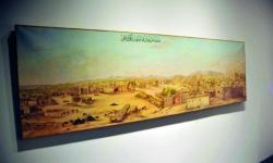 The exhibits include a painting from 1825 which depicts Madinah and the surrounding areas, such as the dome, the five minarets, the surrounding mountains, the agricultural fields and key buildings.