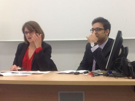 Florence Toix - member of the French Association of Asylum Judges - and Asif Arif - student lawyer and president of the Ahmadiyya Persecutions Comittee France