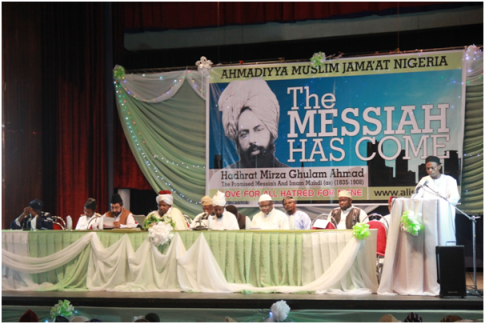 Missionary Muhammad Qasim Oyekola delivering his Welcome Address
