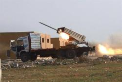 This photo provided by the anti-government activist group Aleppo Media Center (AMC), which has been authenticated based on its contents and other AP reporting, shows multiple rocket launchers fire Grad missiles by the Syrian rebels as they shell the government forces positions, in Aleppo, Syria, Monday April 14, 2014. (AP Photo/Aleppo Media Center, AMC)  Read more: http://www.dailystar.com.lb/News/Middle-East/2014/Apr-15/253421-syria-rebels-get-us-made-missiles-source.ashx#ixzz2z1dkwP9c  (The Daily Star :: Lebanon News :: http://www.dailystar.com.lb)
