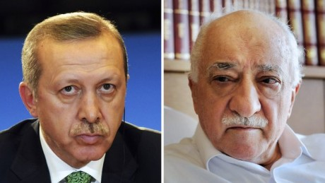 Prime Minister Recep Tayyip Erdogan (left) and Fethullah Gulen were once close allies