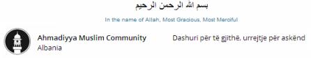 Click to see Islam Ahmadiyya website in  Shqip Albanian (Albania/Kosovo)