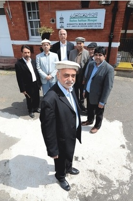 MOVING IN? Ahmad Sharif, centre, is head of the Shirley branch of the Ahmaddiya Muslim group, who are considering New Addington as a base Picture: Grant Melton
