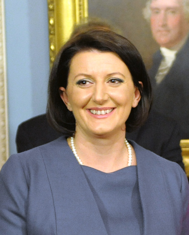 Atifete Jahjaga, is the current leader of Kosovo and her country's first female Muslim president.
