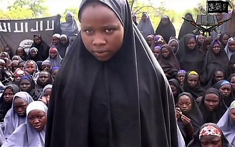 Boko Haram released a video showing around 130 of the more than 200 girls in captivity