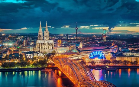 Cologne Cathedral and Bridge in Germany