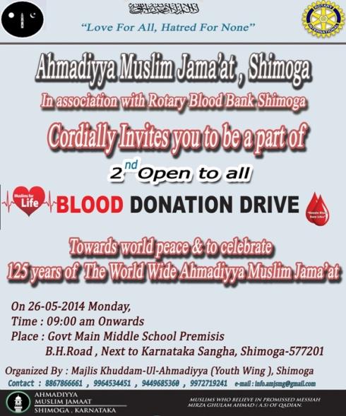 Invitation of Blood Drive 2014