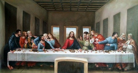 The Last Supper, originally painted by Leonardo da Vinci