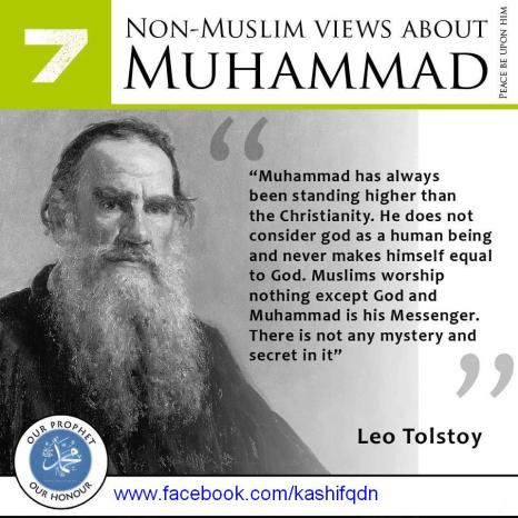 Russian author Count Leo Tolstoy on Prophet Mohammad (saw)