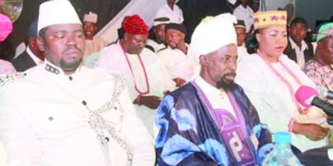 Ahmadiyya Youth Leader,Abdul-Qadir Abdul-Rafi,Amir, Ahmadiyya Muslim Jama%u2019at, Nigeria, Dr. Mashuud Fashola and the Regent of Isolo Kingdom in Akure.