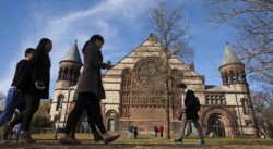 Princeton University, in New Jersey, is again ranked the No. 1 national university in U.S. News and World Report's annual list. Top-ranked schools haven't seen much change in five years, but there are some major movers on the U.S. News lists. (EDUARDO MUNOZ/REUTERS)