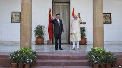Chinese President Xi Jinping and India's PM Narendra Modi