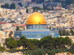 Dome of the Rock near Al Aaqsa mosque on Temple Mount