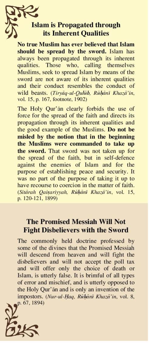 Jihad in Islam Ahmadiyyat
