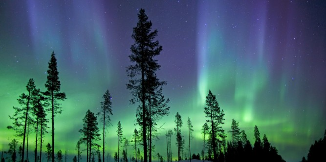 Aurora borealis, or northern lights
