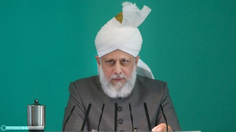 The World Head of the Ahmadiyya Muslim Community, the Fifth Khalifa, His Holiness, Hazrat Mirza Masroor Ahmad