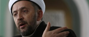 In this photo taken Saturday, Jan. 3, 2015, Bosnian imam Selvedin Beganovic, 44, speaks during an interview at the mosque in the village of Trnovi. | ASSOCIATED PRESS