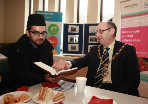 Mayor of Redbridge, Cllr Ashley Kissin at the exhibition on Saturday.