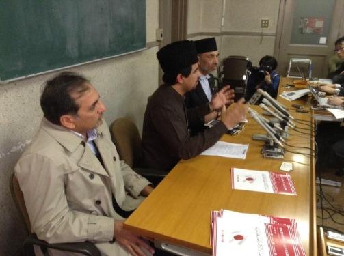 Ahmadiyya Muslim Community Japan holding a Press Conference