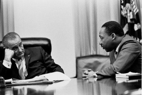 Martin Luther King, Jr and President Lyndon Johnson in 1966