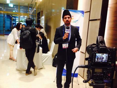 Anees Ahmad Nadeem, the National President of Ahmadiyya Muslim Community Japan at PTC News Interview