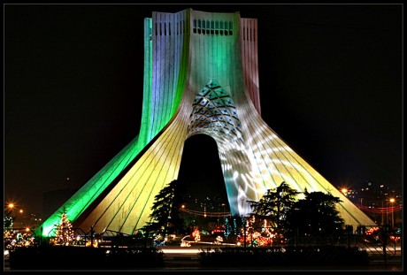 This monument is the landmark of Tehran. It is called Azadi which means liberty