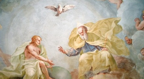 Holy Trinity, fresco by Luca Rossetti da Orta, 1738–9 (St. Gaudenzio Church at Ivrea).