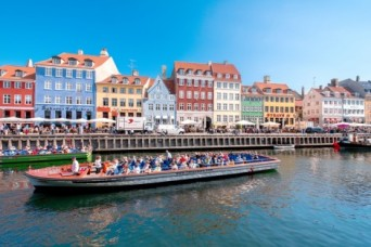 A famous landmark and boat ride in Copenhagen, Denmark
