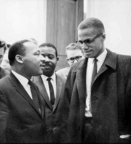 Malcolm X and Martin Luther King in 1964