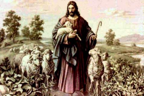 The Shepherd with His Sheep (Jesus with his tribe)