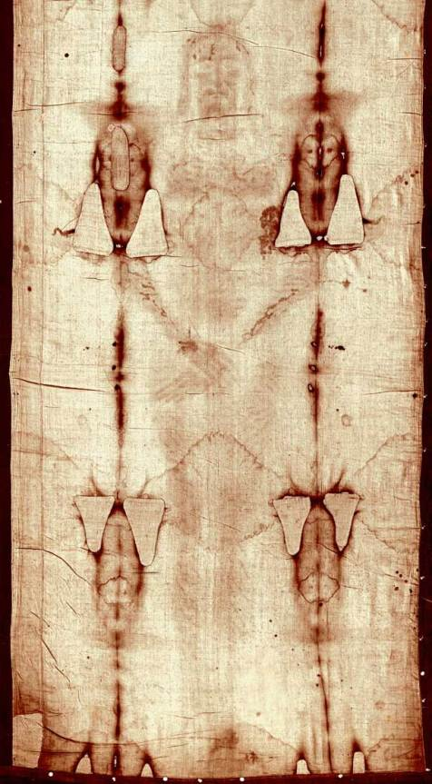 Positive / Photograph developed from the Negative of Shroud of Turin