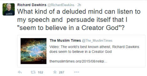 dawkins tweet about TMT