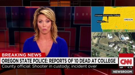 Oregon shooting: Reports of 10 dead at Umpqua Community