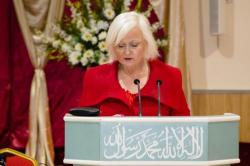 Siobhain McDonagh MP addressed the women on Saturday